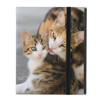 Mother Cat Loves Cute Kitten - protective Hardcase iPad Covers