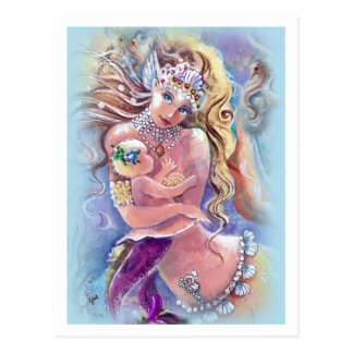 Mother & Child Mermaid Postcard