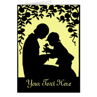 Mother & Child Silhouette Greetings Card