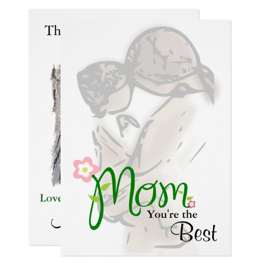 Mother & Child with Custom Text & Photo Card