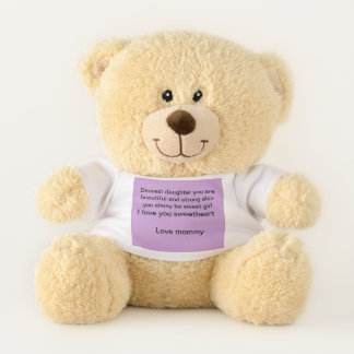 Mother/daughter gift teddy bear