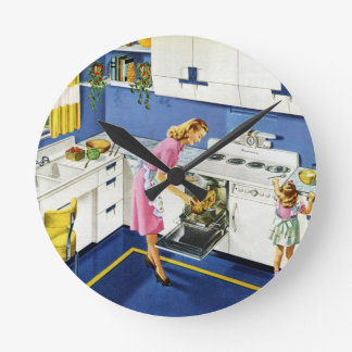 Mother/Daughter Retro Kitchen #2 Wallclocks