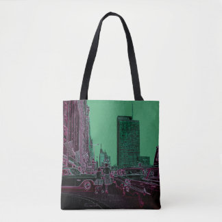 Mother Daughter Shopping Michigan Ave Chicago 1961 Tote Bag