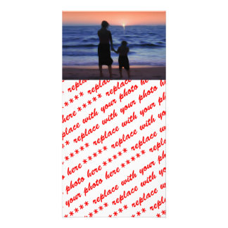 Mother & Daughter Walk on the Beach (Mother's Day) Personalized Photo Card