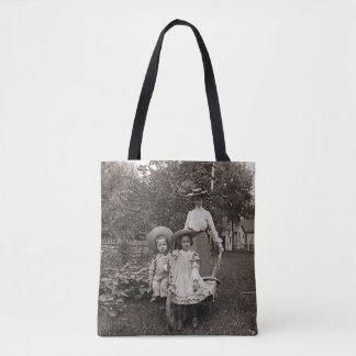 Mother Daughters 1890 Heirloom Gardening Garden Tote Bag