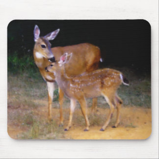 Mother Deer with Fawn Mouse Pad