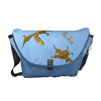 Mother Dinosaur giving flying lessons Commuter Bags