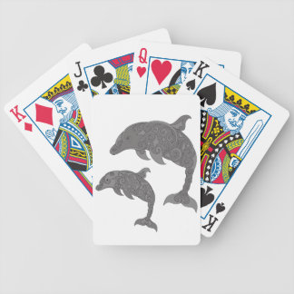 Mother Dolphin with Baby Poker Deck
