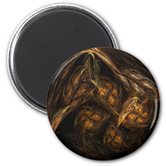 Mother Earth Abstract Art Round Magnet