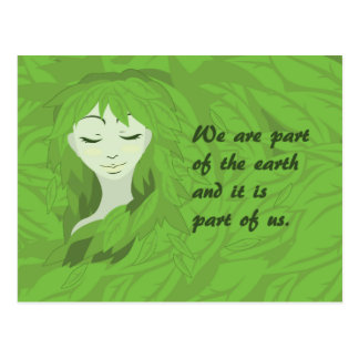 Mother Earth (Asleep) Postcard