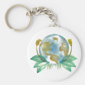Mother Earth Clean Her Up Key Chain