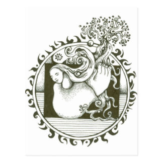 Mother Earth Collection in black and white Postcard