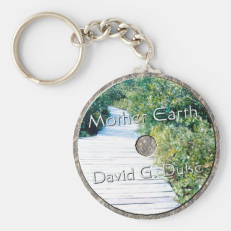 Mother earth Disk Keychain