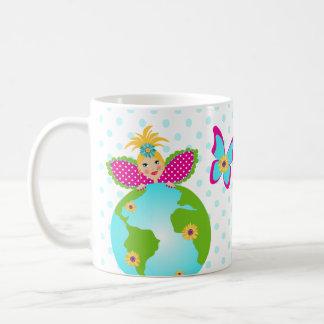Mother Earth Fairy World Globe Travel Mug