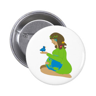 Mother Earth Gaia Button