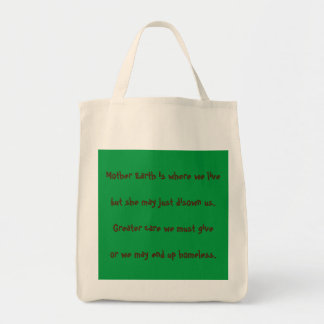 """Mother Earth"" Inspirational Grocery Tote"