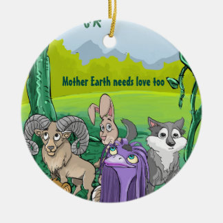 Mother Earth Needs Love Too Ornament