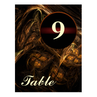 Mother Earth Table Number Postcard