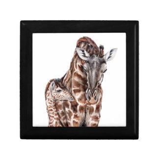 Mother Giraffe with Baby Giraffe Gift Box