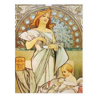 Mother Goddess Art Nouveau Postcard
