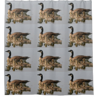 Mother Goose and Her Goslings Shower Curtain
