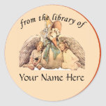 Mother Goose From the Library of Bookplate Round Sticker