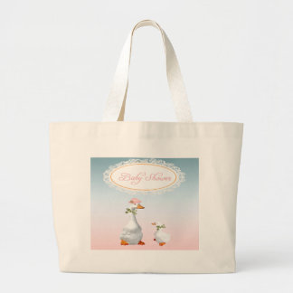 Mother Goose wearing Bonnet & Glasses with Baby Large Tote Bag