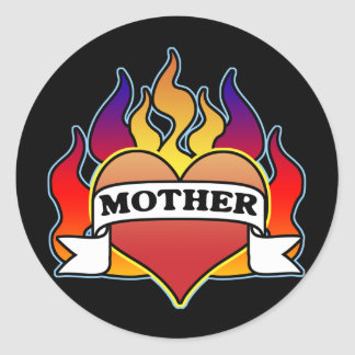 Mother Heart Tattoo Mother s Day Sticker