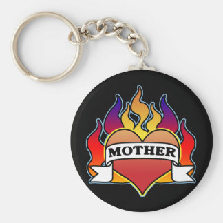 Mother Heart Tattoo Mother's Day Keychain