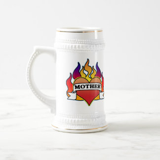 Mother Heart Tattoo Mother's Day Stein Beer Steins