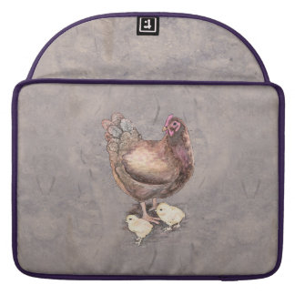 Mother Hen and Chicks Sleeve For MacBook Pro