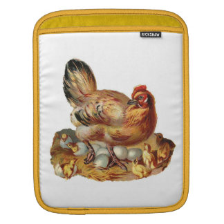 Mother Hen Chicks Eggs Rickshaw Sleeve Sleeve For iPads