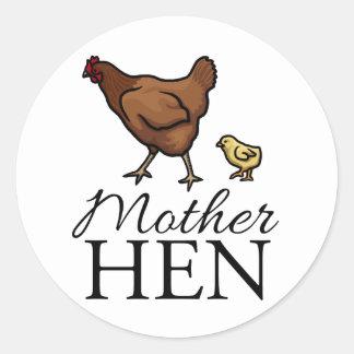 Mother Hen Classic Round Sticker
