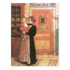 Mother Holding Baby in the Kitchen Postcard