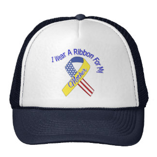 Mother - I Wear A Ribbon Military Patriotic Hats