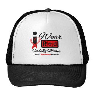 Mother  -  I Wear Red Ribbon Heart Disease Hats