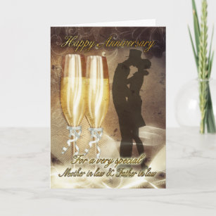 mother in law father in law anniversary card