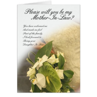 Mother in law greeting card, will you be my mother card