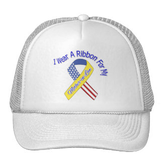 Mother-in-Law - I Wear A Ribbon Military Patriotic Trucker Hats