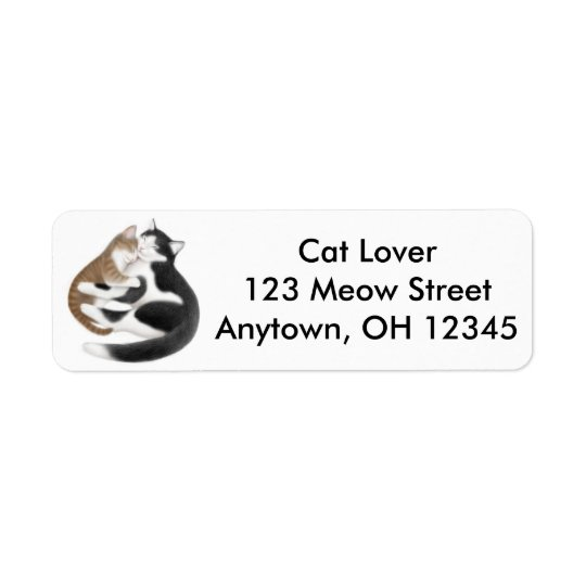 Mother Love Cats Avery Label Return Address Label