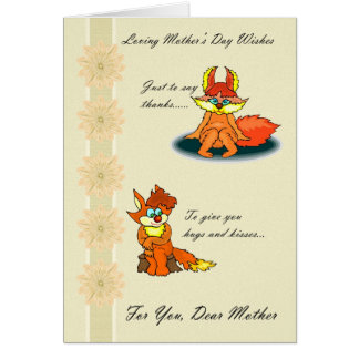 Mother, Loving Mother's Day Wishes Greeting Card