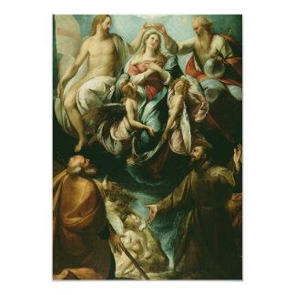 Mother Mary 13 Cm X 18 Cm Invitation Card