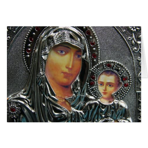 Mother Mary and Baby Jesus Greeting Cards