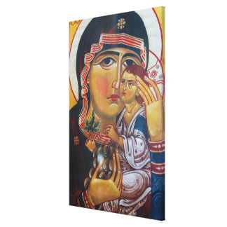Mother Mary And Jesus Art Canvas Print