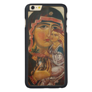 Mother Mary And Jesus Art Carved Maple iPhone 6 Plus Case
