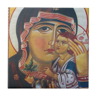 Mother Mary And Jesus Art Ceramic Tile