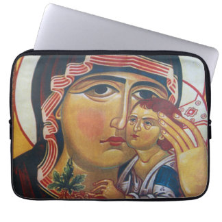 Mother Mary And Jesus Art Laptop Sleeve