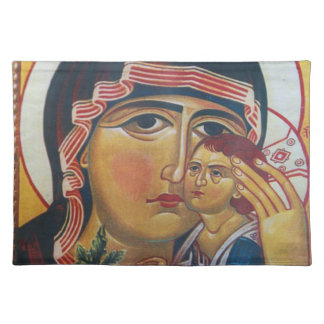 Mother Mary And Jesus Art Placemat