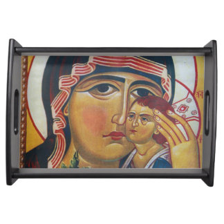 Mother Mary And Jesus Art Serving Tray