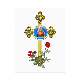 Mother Mary art Stretched Canvas Print
